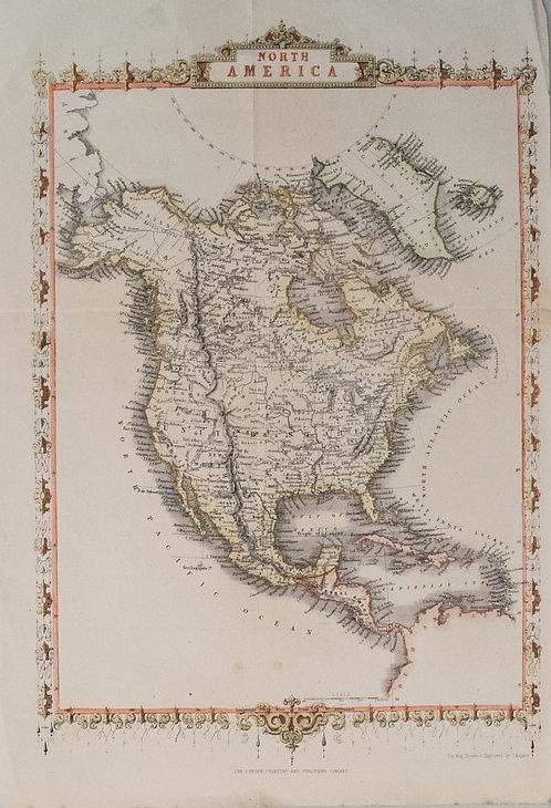 1859 Tallis map of North America