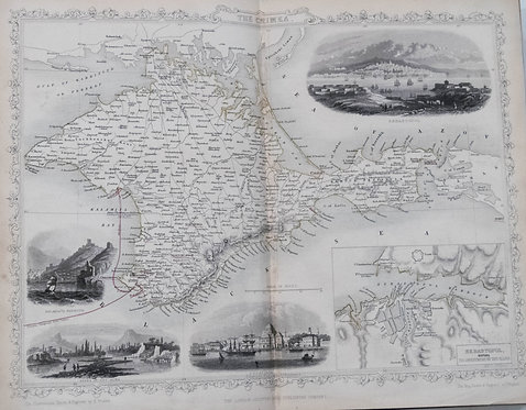 1854 Tyrrell's War with Russia with Tallis Maps