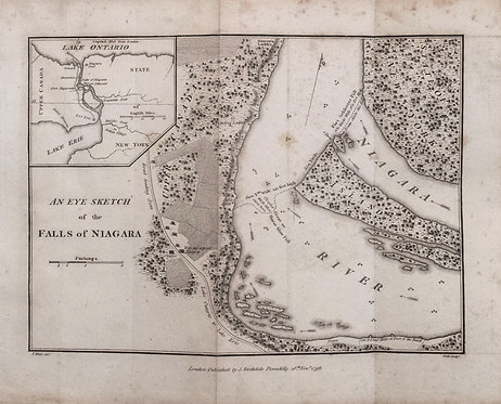 1798 Stockdale Map of Niagara Falls