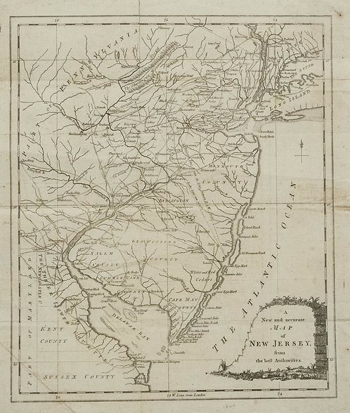1780 New Jersey Map