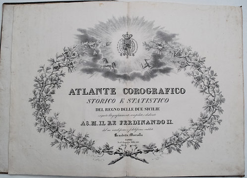 1832 Marzolla Atlas of the Two Silies