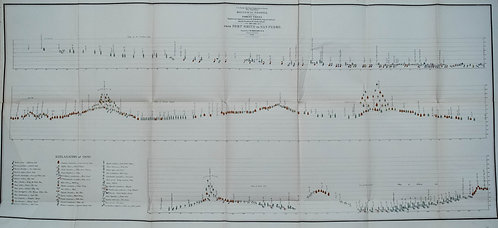 1853-4  Botanical Profile Map for Pacific RR Through New Mexico and Arizona