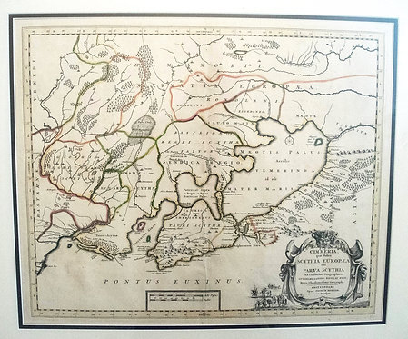 1665 Sanson / Mariette Map of Crimea & Ukraine