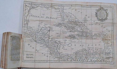 1780 Kitcin Map Golf of Mexico-History of America