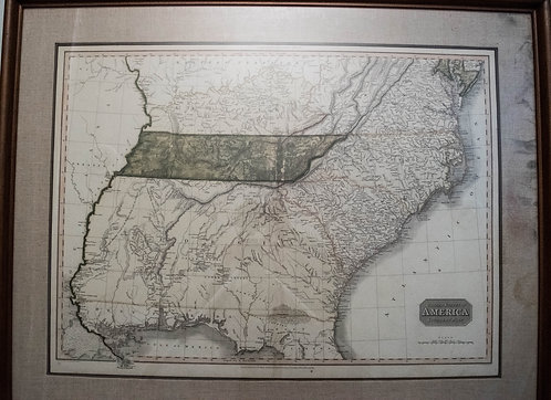 1809 Pinkerton Map of the Southern United States