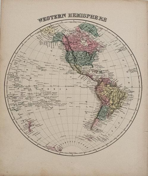 1878 Warner Beers Western Hemisphere