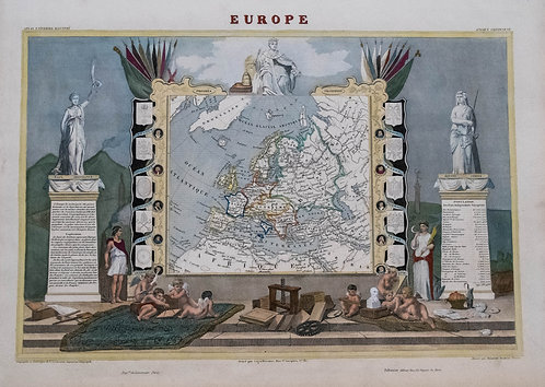 1861 Levasseur Map of Europe
