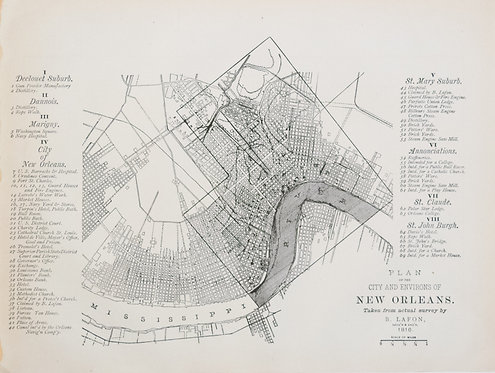 1887 Government Map of New Orleans