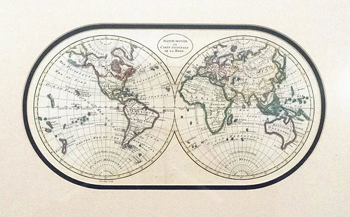 1817 Bloundeau Unique World Map