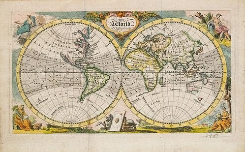 1757 Jefferys Map of the World