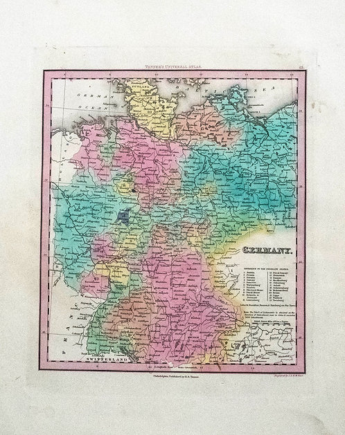 1841 Tanner Map of Germany