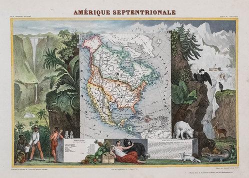 1840 Levasseur Map of North America