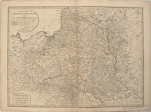 1787 Sayer Map of Poland
