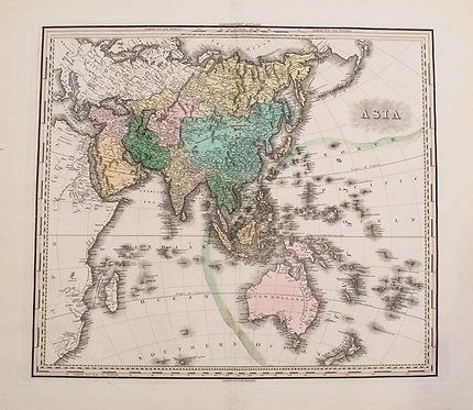 1828 Tanner Map of Asia