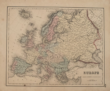 1855 Colton Map of Europe