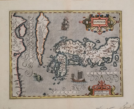 1630 Hondius / Mercator Map of Japan and Korea