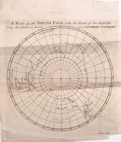 1776 Map of South Pole Tracking Capt. Cook