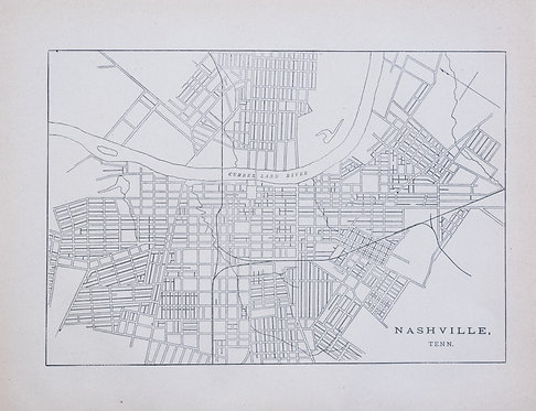1887 Government Map of Nashville Railroads