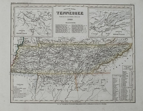 1849 Meyer Map of Tennessee