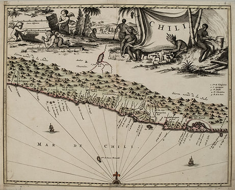 1671 Montanus/Ogilby Map of Chile