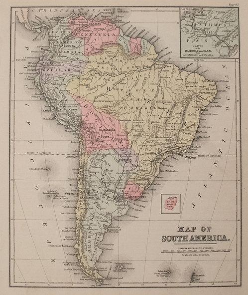 1887 Cowperthwait Map of South America