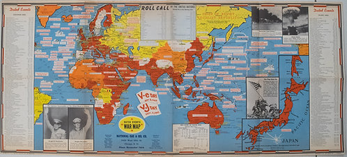 1945 Turner Dated Events War Map
