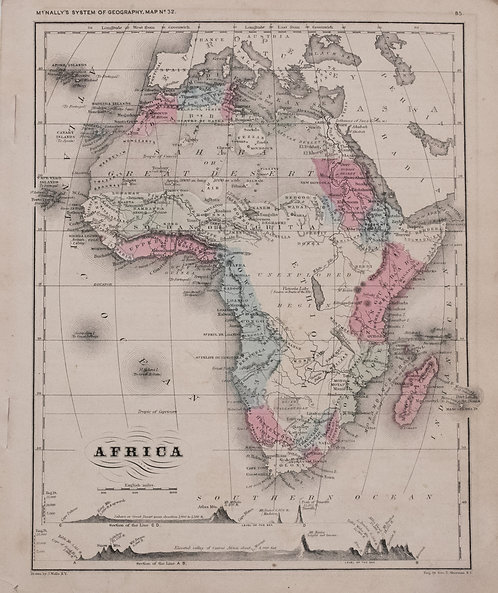 1866 McNally Map of Africa