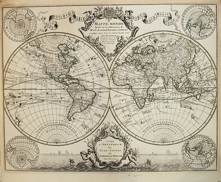 1745 Covens and Mortier World Map