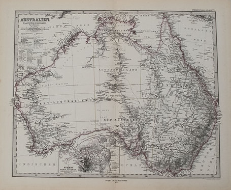 1878 Stieler Map of Australia