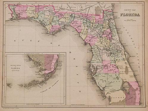 1882 Bradley Map of Florida