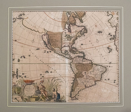 1697 Allard Early Map of the Americas, Calif. Isle