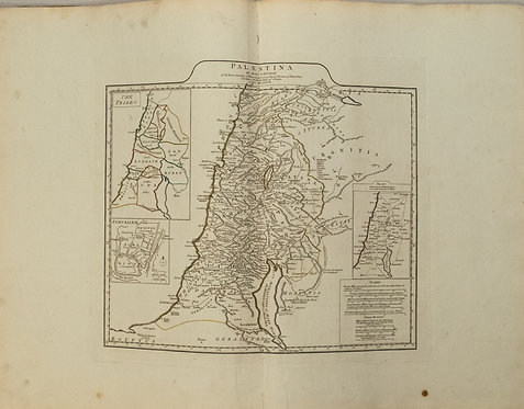 1767 d'Anville Map of Ancient Palestine