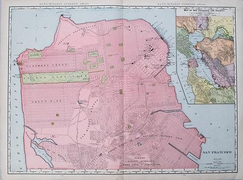 1905 Rand McNally Map of San Francisco