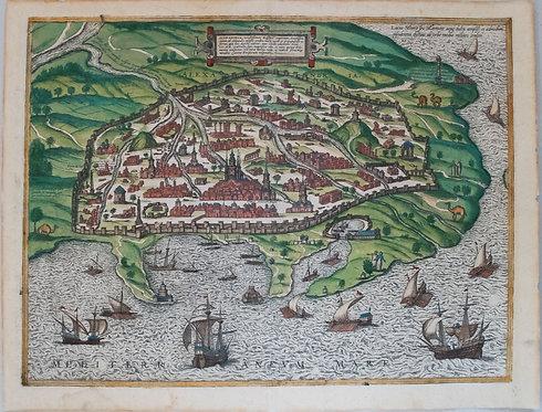 1575 Braun & Hogenberg Bird's Eye View of Alexandria