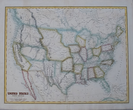 1854 Fullarton Map of United States