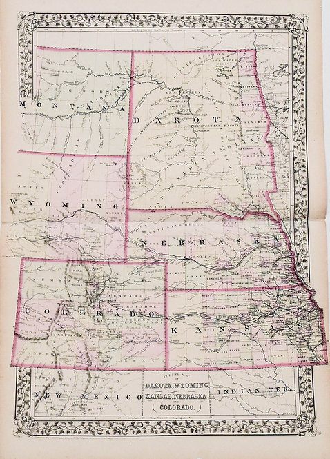 1871 Mitchell: Dakotas, Wyoming, Colorado, NE, KS