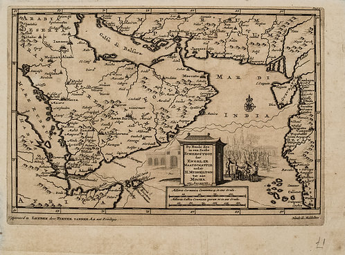 1704 Aa Map of the Arabian Peninsula to Western India