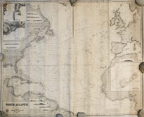 1879 Imray Chart of the North Atlantic
