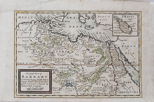1714 Moll Map of North Africa