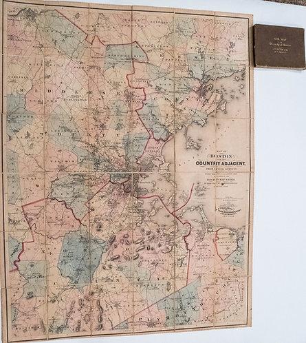 1860 Dutton / Walling Case Map of Boston