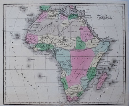 1835 Smith/Burgess Map of Africa