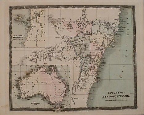 1831 Teesdale Map of Australia