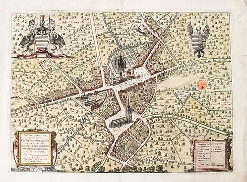 1649 Blaeu Bird's-eye view of Steenvoorde