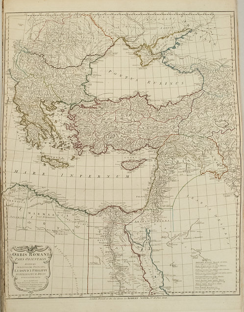 1764 d'Anville Map of Eastern Roman Empire from Black Sea Region to Middle East