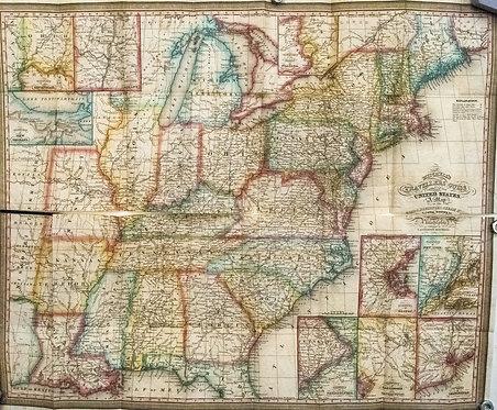1835 Mitchell Pocket/Folding Map of United States