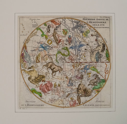 1743 Back Celestial Chart of the Northern Hemisphere