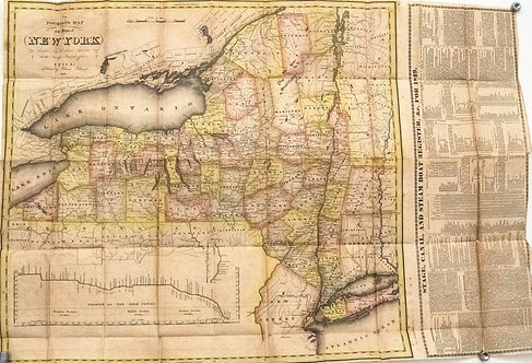 1828 Williams Pocket Map of New York State