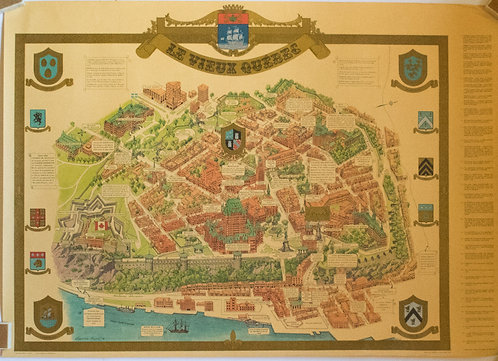 1970s Bolvin Pictorial Map of Quebec City