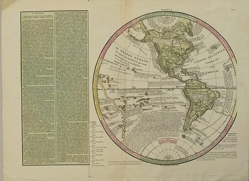 1830 Le sage Map of the Western Hemisphere