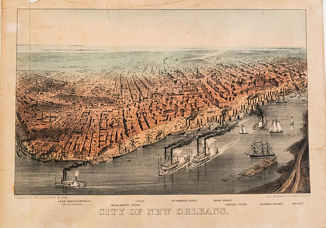1875c. Currier & Ives View of New Orleans